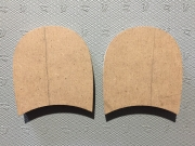 Каблук деревянный без набойки