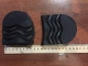 каблук мужской пенополеуритановый высота 3 см черный рисунок волна